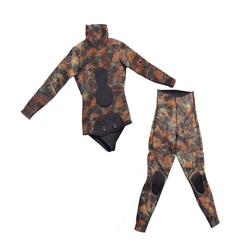 Hisea seac 3.5mm men neoprene diving suit Split wetsuit Fishing and hunting clothing Siameseprofessional separated diving suit ...