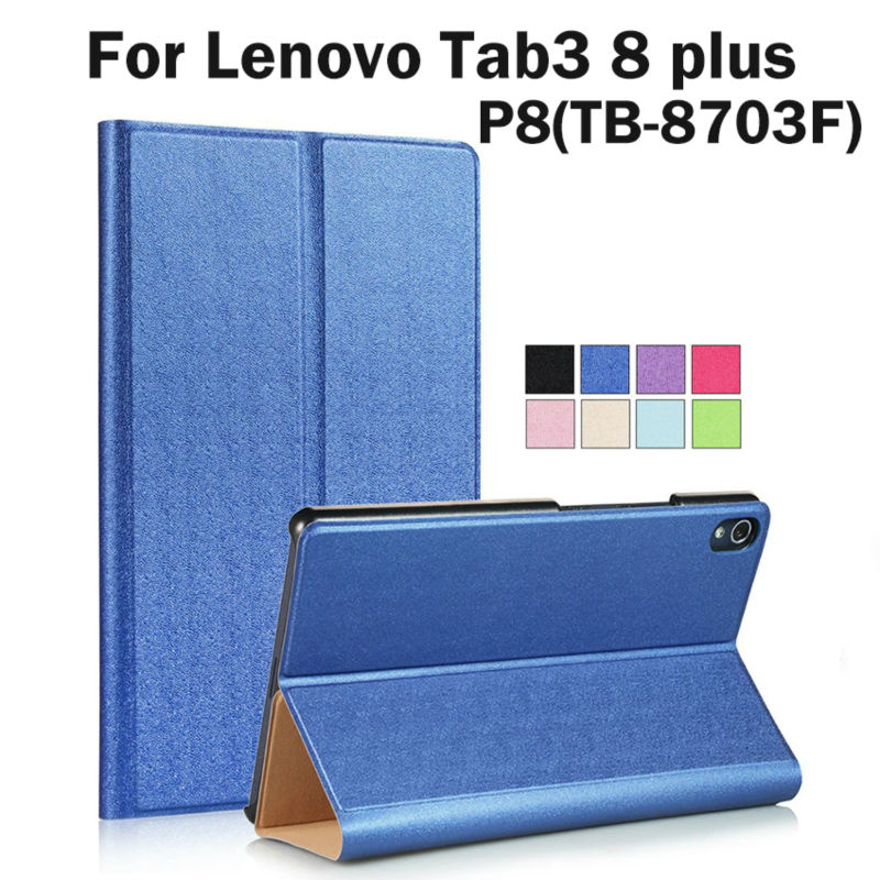 For Lenovo Tab3 8 Plus P8 TB-8703 TB-8703N 8'' Tablet stand PU Leather Smart Protective Case Wake up function Book Fundas Cover mdfundas fitted case for lenovo tab3 8 plus tb 8703f tb 8703n fundas flip folding stand leather cover for lenovo p8 film