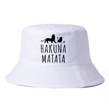 fashion Pure cotton hakuna matata hat Men women bucket outdoor hunting panama fishing cap leisure