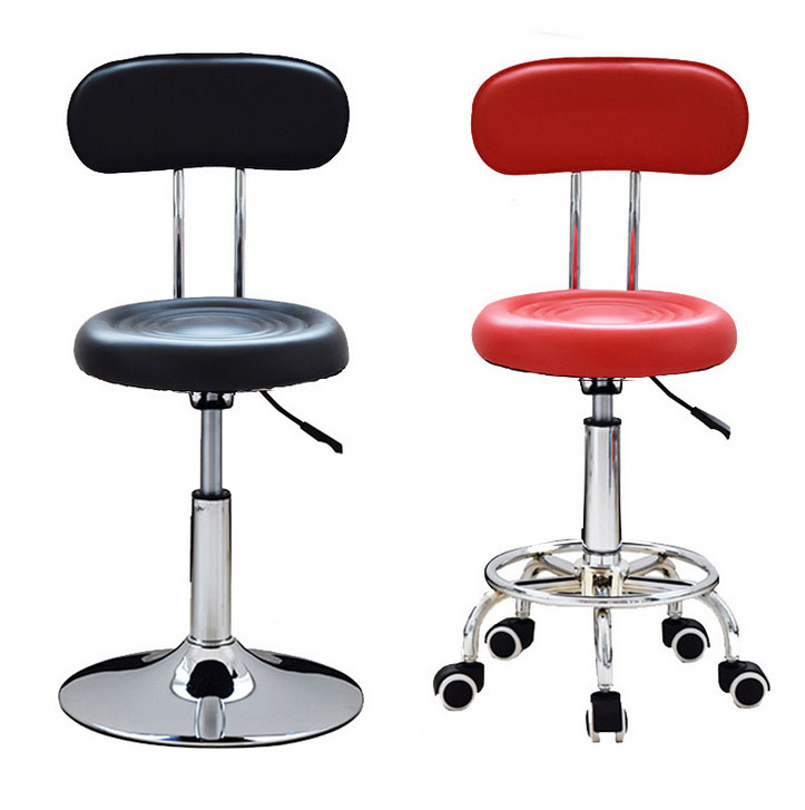 Multifunction Stylish simplicity Leather Stool Height Adjustable Bar Chair Work Rotating Chair Swivel Stool Adjustable Bar Stool the bar chair hairdressing pulley stool swivel chair master chair technician chair