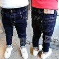 Новые 2016 джинсы для мальчика мальчиков брюки дизайнер детские жан детские талии джинсовые длинные брюки джинсовые брюки