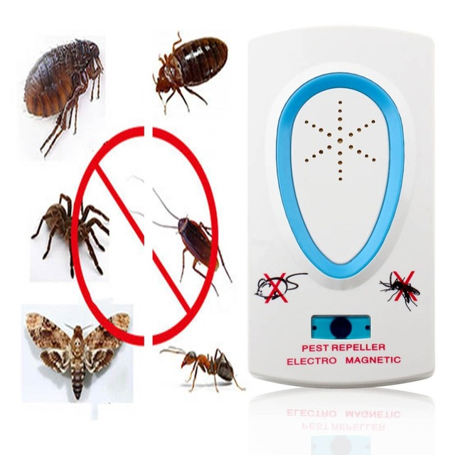 2.5W EU Plug AC 90 ~ 250V White Pest Repeller Electronic Ultrasonic Mouse Rat Mosquito Insect Rodent Control