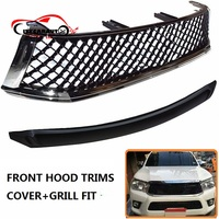 Racing Grill Grille ABS Front Trims Grills Hood Bonnet Cover Trims Sticker Fit For S80 S75