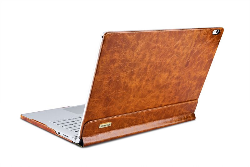 Retro style Genuine Leather Case for Microsoft Surface Book 13.5 inch Anti Shock Protetcive Leather Shell for Surface book Case