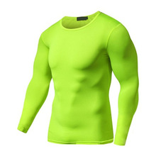 Z-6152 сухой Fit фитнес дышащий Бег Рубашка для мужчин Рашгард мужской быстросохнущая футболка мужчин гимнастическая майка Training