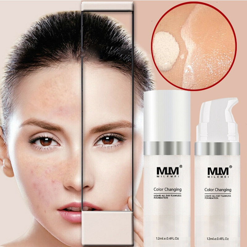 Makeup Color Changing Liquid Foundation Change To Your Skin Tone By Just Blending TLM maquiagem