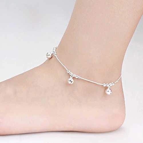 12 sztuk kobiety moda 3 sztuk dzwony 12 koraliki luksusowe łańcuch bransoletka kostki plaża łańcuszek na kostkę
