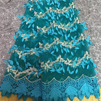 2018  African Lace Fabric Wine High Quality Guipure With Sequins Net Nigerian Tulle Lace Fabrics For French Party Dress
