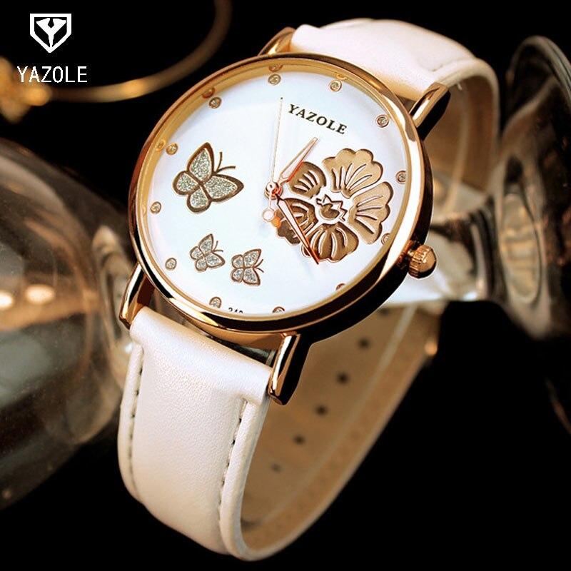 YAZOLE Rose gold Ladies Wrist Watch Women Brand Luxury Famous Quartz Watch Female Clock Montre Femme Girls relogio feminino perception of secondary school students towards inclusive education