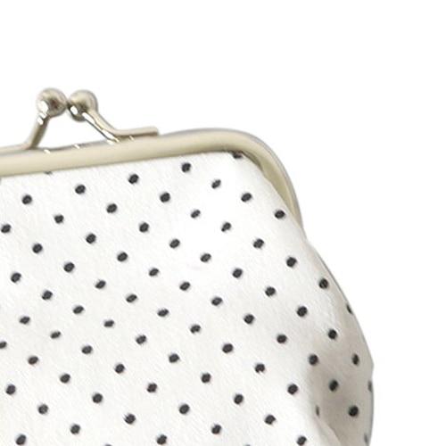 Wholesale 5pcs ( Popular Cute girls Wallet Clutch Change Purse key/coins bag Mini Handbag Pouch White