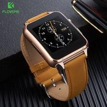 Floveme deporte smart watch bluetooth 3.0 anti-perdida smartwatch mujeres hombre de reconocimiento de gestos de sincronización inteligente relojes soporte de tarjeta sim