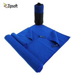 Sports Towel With Bag2PCS/set 75x135cm&35x75cm Size Microfiber towel Gym Beach Quick dry Travel Solid Outdoor Yoga Swimming bath
