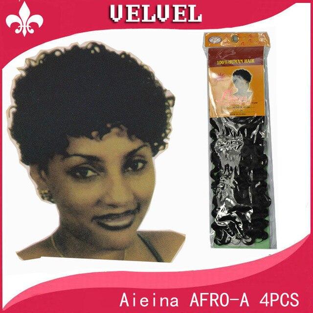 Aieina afro a 4pcs afro braiding hair blended hair weave short aieina afro a 4pcs afro braiding hair blended hair weave short curly hair body wave pmusecretfo Images