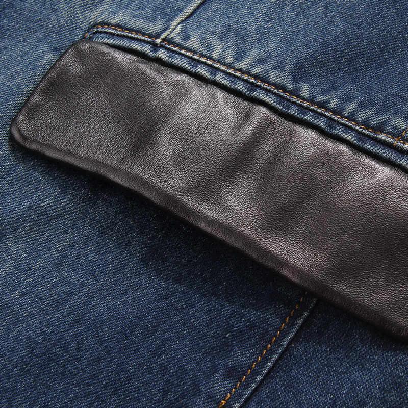 2019 nowych mężczyzna mody kurtka dżinsowa na co dzień długi 100% bawełna dżinsy płaszcz babie lato wysokiej jakości wiatrówki M-4XL