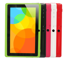 "7 ""A33 Quad Core 1.5 GHz cuatro Colores Q88 7 pulgadas Tablet PC 1024×600 de Doble Cámara de 2500 mAh 8 GB Android Tablet"