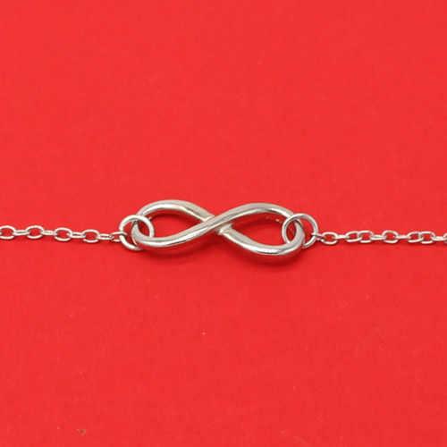 2019 nowości koreański Hot moda proste metalowe 8 nieskończoność Charm bransoletki dla kobiet i mężczyzn biżuteria lato styl plaża
