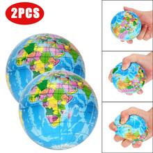 2 sztuk Stress Relief mapa świata Jumbo Ball atlas globus piłeczka do zabawy planeta ziemia zabawkowa piłka odkryty piłki prezent dla kid A1 tanie tanio DEBIZHONG Unisex LIY80521001 get away from fire Piłeczka antystresowa Promocyjne 12-15 lat 5-7 lat 3 lat 8 lat 13-24 miesięcy