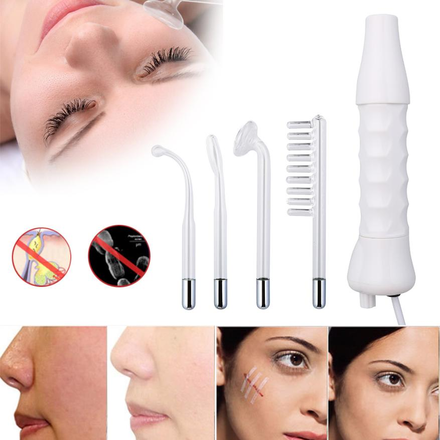Skin whitening Massage Electrode Glass Tube High Frequency Instrument Skin Facial Spa Salon Machine Beauty Acne Remover  5U1124 red and blue face whitening instrument acoustics acne freckle whitening instrument photorejuvenation facial