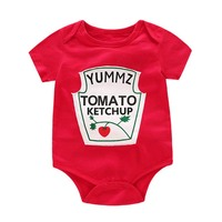 Infant Boys Girls Bodysuits Cartoon Fruit Letter One pieces Jumpsuits Short sleeved Triangle Crawling Suit Baby Clothing