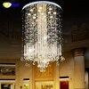 FUMAT K9 Crystal Chandelier Lights Modern Crystal Chandeliers Lamps For Villa Penthouse Spiral LED K9 Crystal
