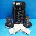 TCP/IP 4 türen zutrittskontrollzentrale access control board + 125 khz KR101E Slave Reader und Kunststoff Exit Button Rfid Zugangskontrolle-in Zugangs Control Kits aus Sicherheit und Schutz bei