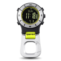 SPOVAN Smart Watch Altimeter Barometer Compass LED Clip Watch Sports Watches Fishing Hiking Climbing Pocket Watch
