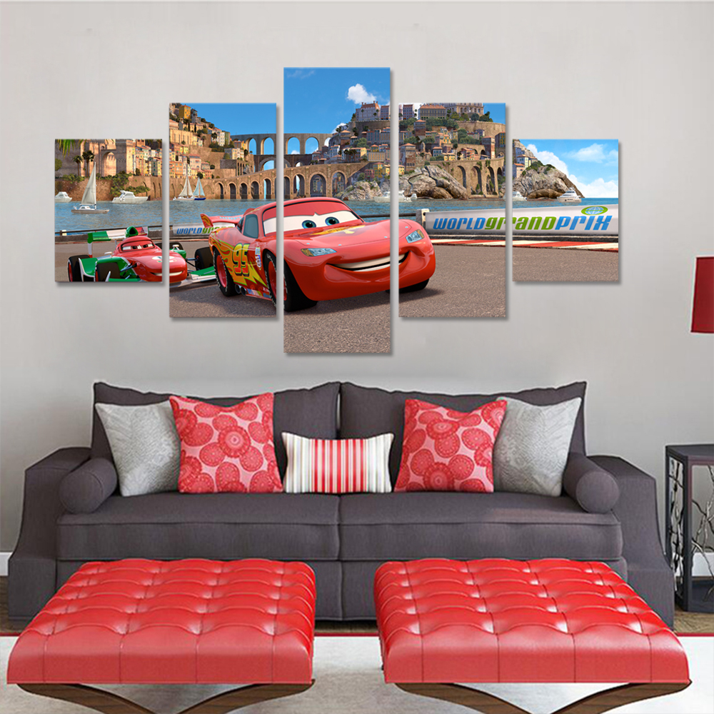 Unframed HD Canvas Prints Animation Car Giclee Wall Decor Prints Wall Pictures For Living Room Wall Art Decoration Dropshipping