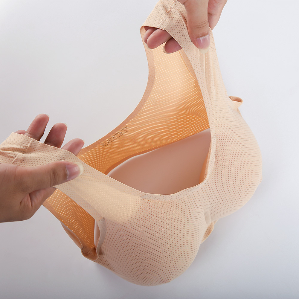 1000g realistic silicon breast form with bra fake boobs invisible