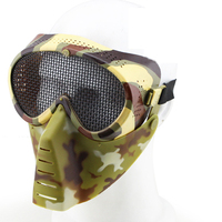 Black Green CP Tan Camouflage Cosplay CS Wargame Tactical Airsoft Skull Small Flies Mask Metal Mesh