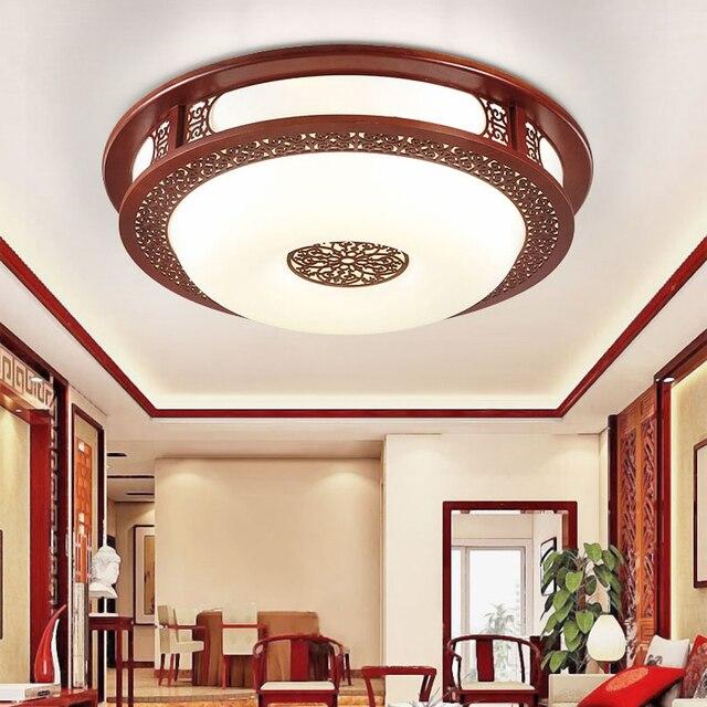 LED Chinese Houten Acryl Rode Ronde LED Lamp. LED Licht ...