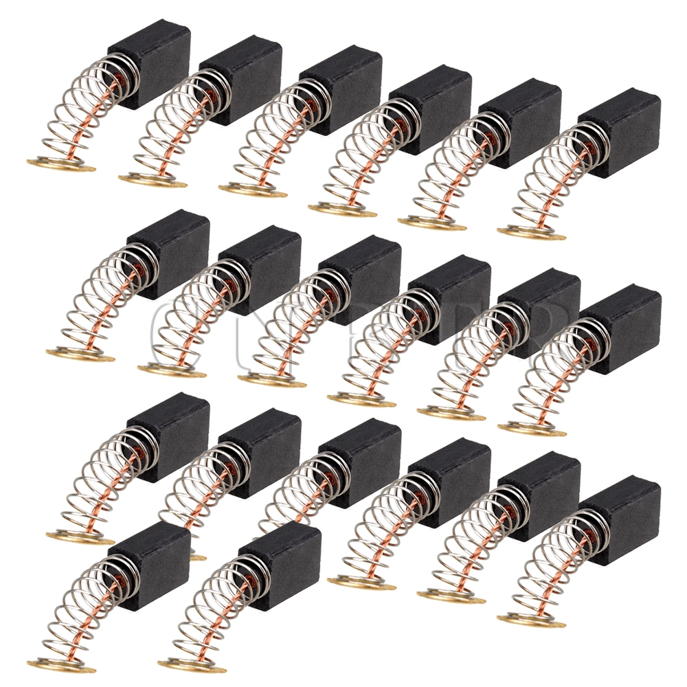 CNBTR  20pcs Electric 12 x 9 x 6mm Motor Carbon Fibre Brush Replacement Motorcarbon  цены