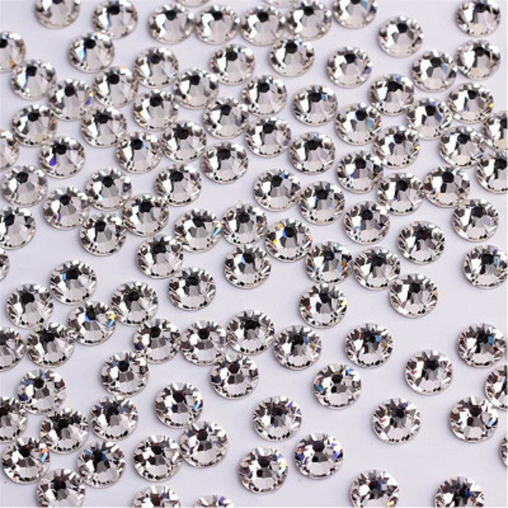 Super deal Shiny 1440PCS SS2 to ss10 non hotfix rhinestone Clear Crystal color 3D Nail Art Decorations Flatback Rhinestones ccbling super shiny ss3 ss40 bag clear crystal ab color 3d non hotfix flatback nail art decorations flatback rhinestones