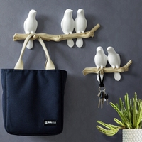 NEW European fresh pastoral stereo bird hook creative porch entrance wall decoration coat hook key holder
