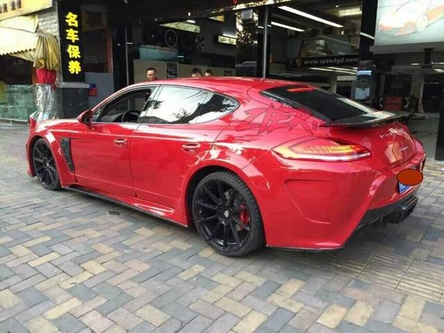Fit For Porsche Panamera 970 Mansory Modified Carbon Fiber Rear Wing With Spoiler