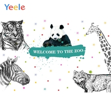 Yeele Wallpaper Zoo Poster Clever Animals Decors Photography Backdrops Personalized Photographic Backgrounds For Photo Studio