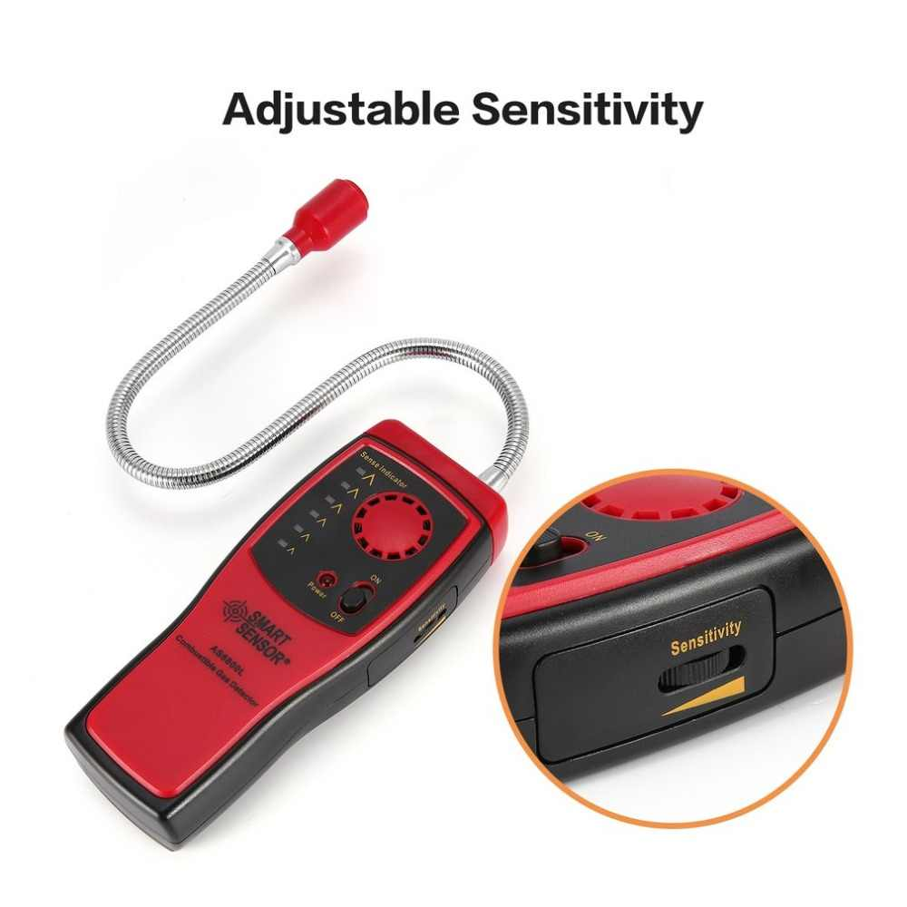 Gas Detector Analyzer Leak alcoholic Sound Light Alarm car-detector Flammable Natural Location Determine Meter Tester diagnostic