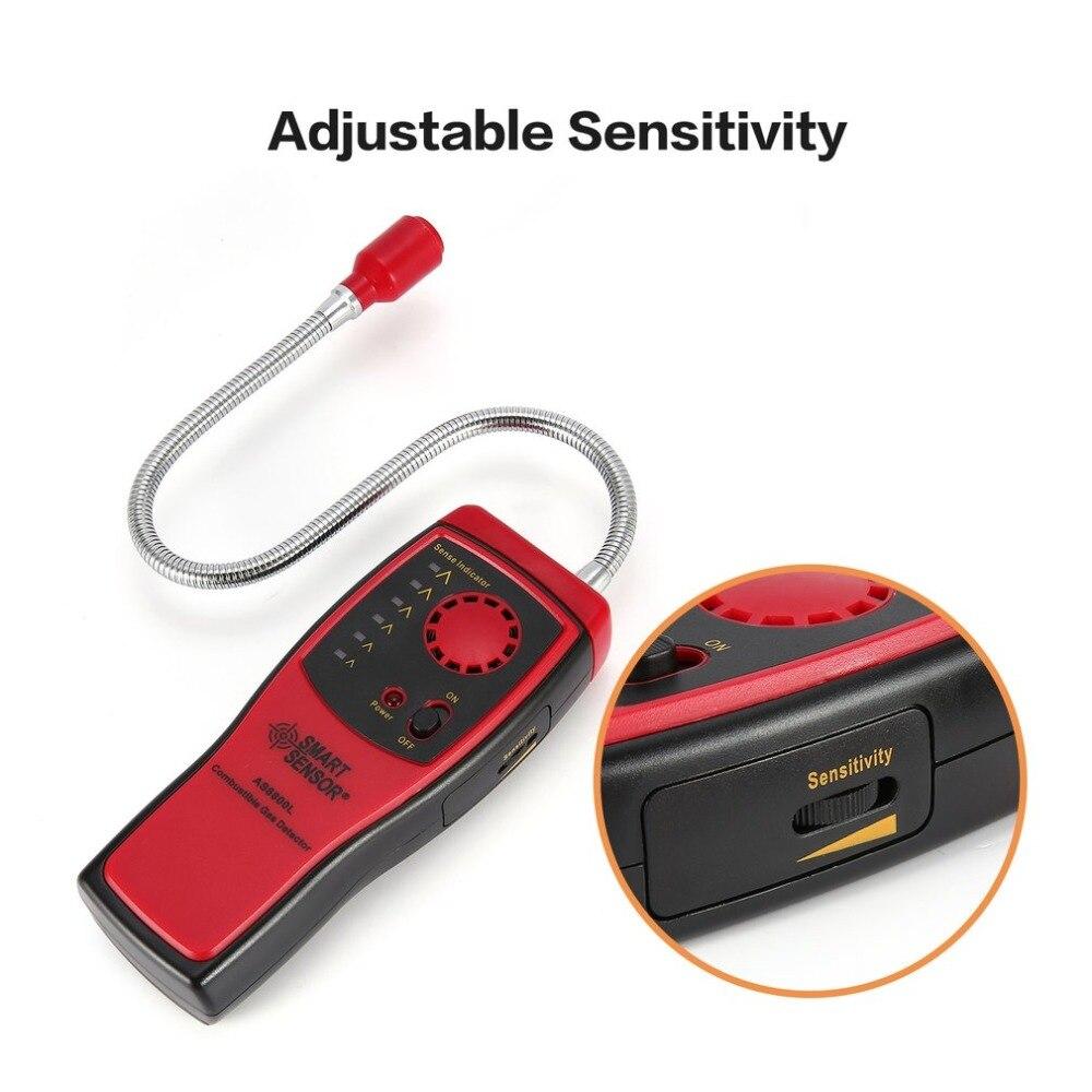 Detector de Gas de fuga alcohólico sonido Luz de alarma de coche-detector de inflamables naturales ubicación determinar Tester medidor de diagnóstico