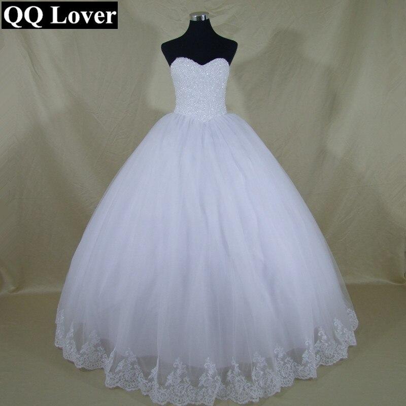 QQ Lover Nuovo Arrivo Cristalli In Rilievo Elegante Abito Da Sposa abito di Sfera Su Misura