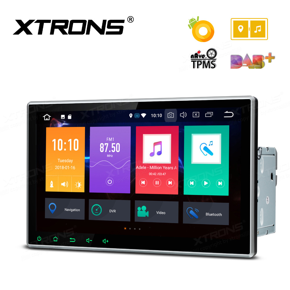 xtrons 2 din universal radio audio 10 1 android 8 0 octa. Black Bedroom Furniture Sets. Home Design Ideas