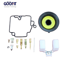 GOOFIT 16.5mm 49cc GY6 50cc Gas Scooter Carburetor Repair Kit A012-047