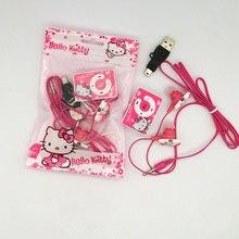 Модный MP3 музыкальный плеер hello kitty с поддержкой Micro TF карты с наушниками Hello kiItty и мини-usb