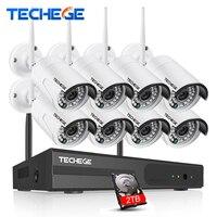 CCTV System 720P 8ch HD Wireless NVR Kit Outdoor IP66 Night Vision IP Camera Wifi Camera