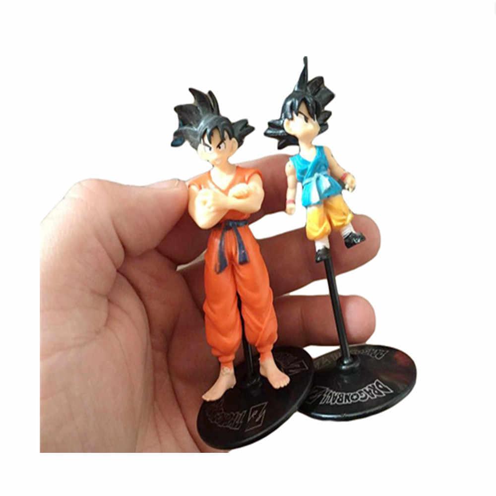 1 peças de Dragon Ball Z Goku Gohan Anime Coleção PVC Modelo Figura de Ação Freeza Com Stents Mostrar Toy Kid Presente