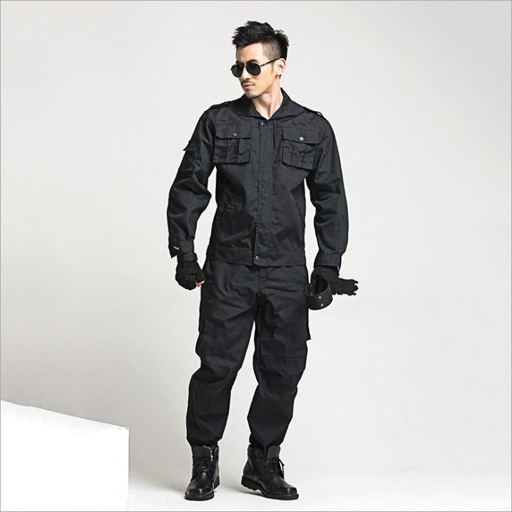 Black Uniform Suit Wholesale Special forces Camouflage Suit paintball equipment Military combat uniform Sets Working Uniform