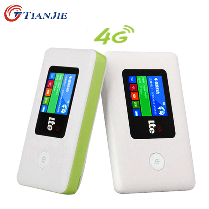 TIANJIE 4G LTE Pocket WIFI Router Car Mobile WiFi  LTE EDG GSM Wireless Mini Mobile Wi-Fi Unlocked Router With Simcard Slot