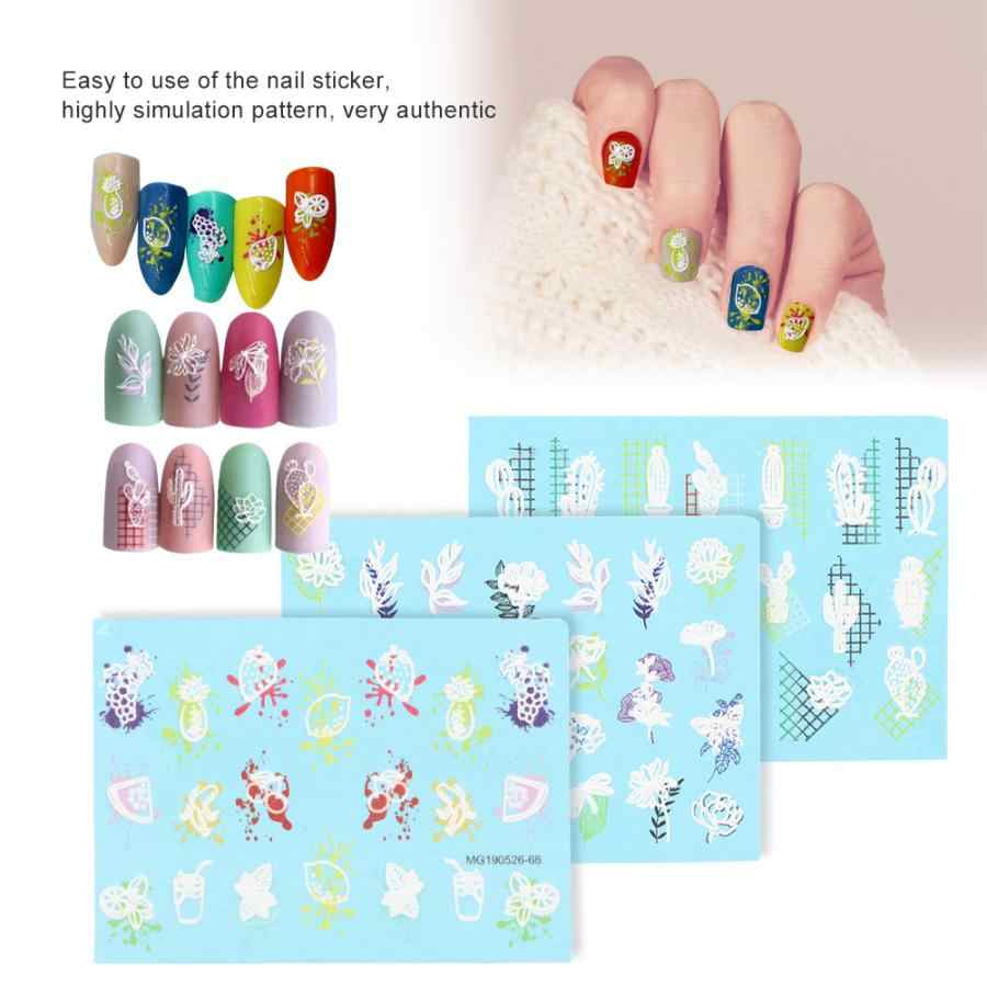 Самоклеющиеся Выгравированные наклейки для дизайна ногтей s DIY Маникюр украшения для ногтей печатная наклейка салон