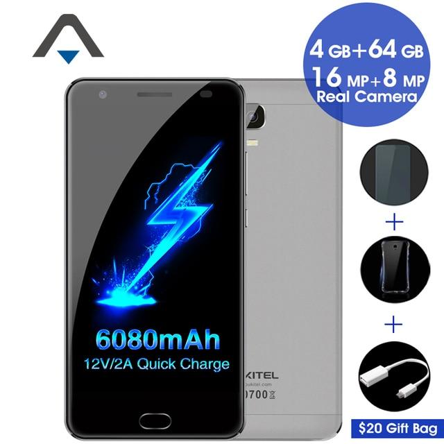 "Original Oukitel K6000 PLUS 4G LTE Mobile Phone Octa Core 5.5"" 1920x1080 4GB RAM 64GB ROM 16.0MP Fingerprint 6080mAh Presell"