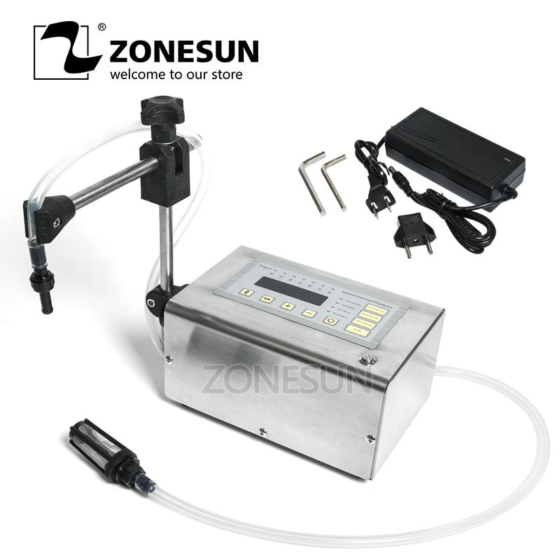 все цены на ZONESUN Electrical Liquid Filling Machine Mini Small Bottle Water Digital Pump Perfume Drink Milk Olive Oil 110V 220V Filler