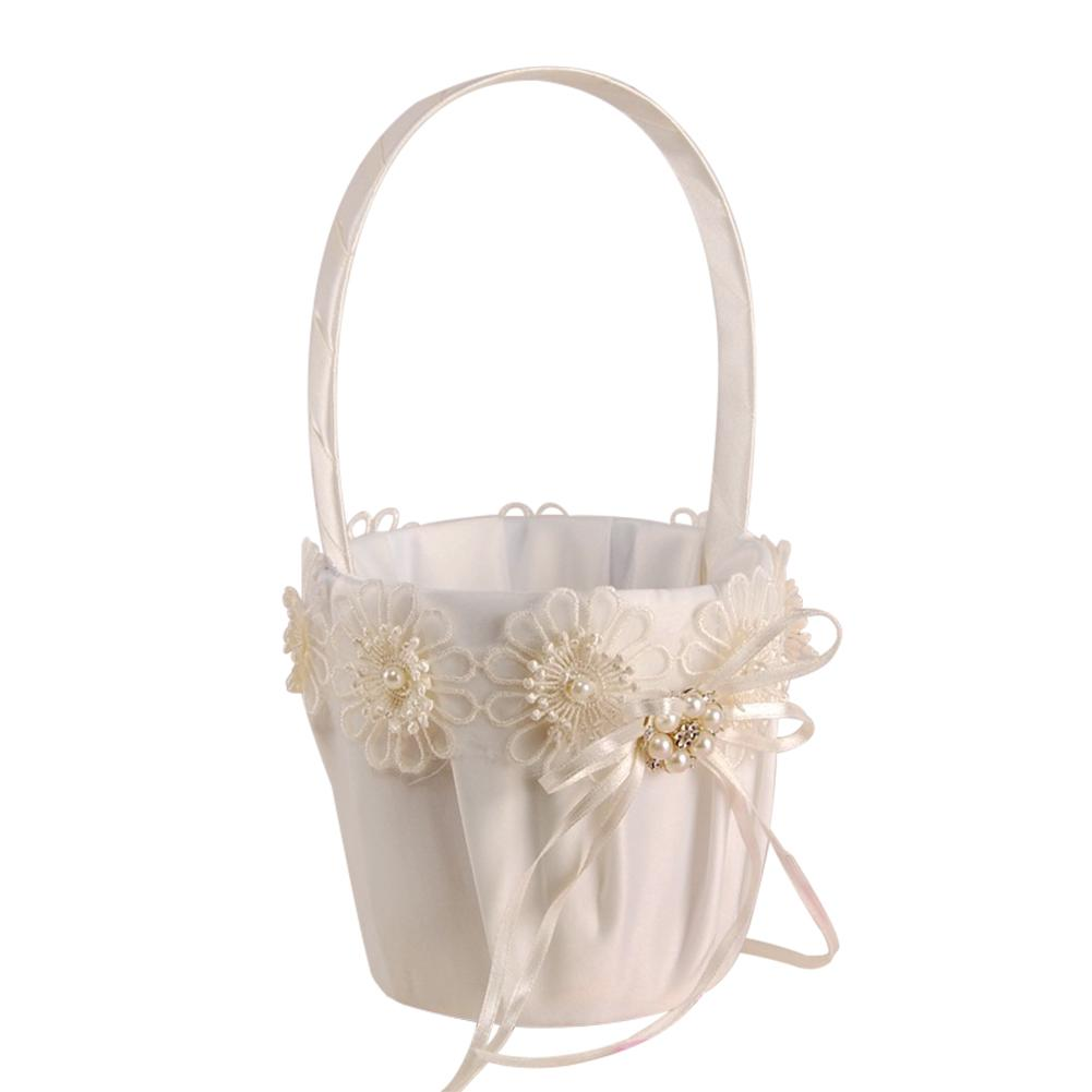 Romantic Small Flower Basket Bridal Flower Girl Scattering Flower Candy Basket Wedding Flower Girl Basket LaceRomantic Small Flower Basket Bridal Flower Girl Scattering Flower Candy Basket Wedding Flower Girl Basket Lace