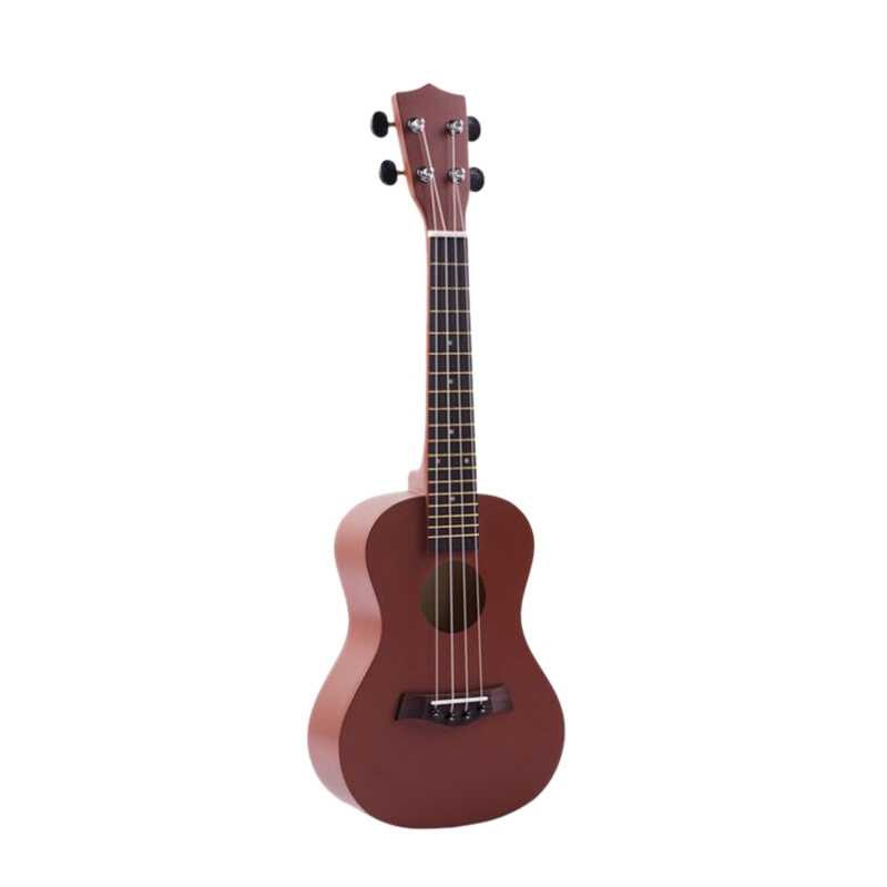 23 Inch Wooden Soprano Ukulele Beginner Hawaii 4-String Guitar Ukelele + String + Pick Suitable For Both Beginners And Childre